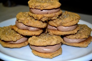 Peanut Butter Sandwich Cookies with Chocolate Buttercream ...