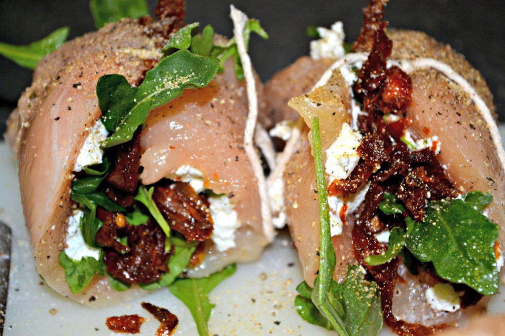 Sun-Dried Tomato, Goat Cheese and Arugula Chicken Roulades - A Hint of ...