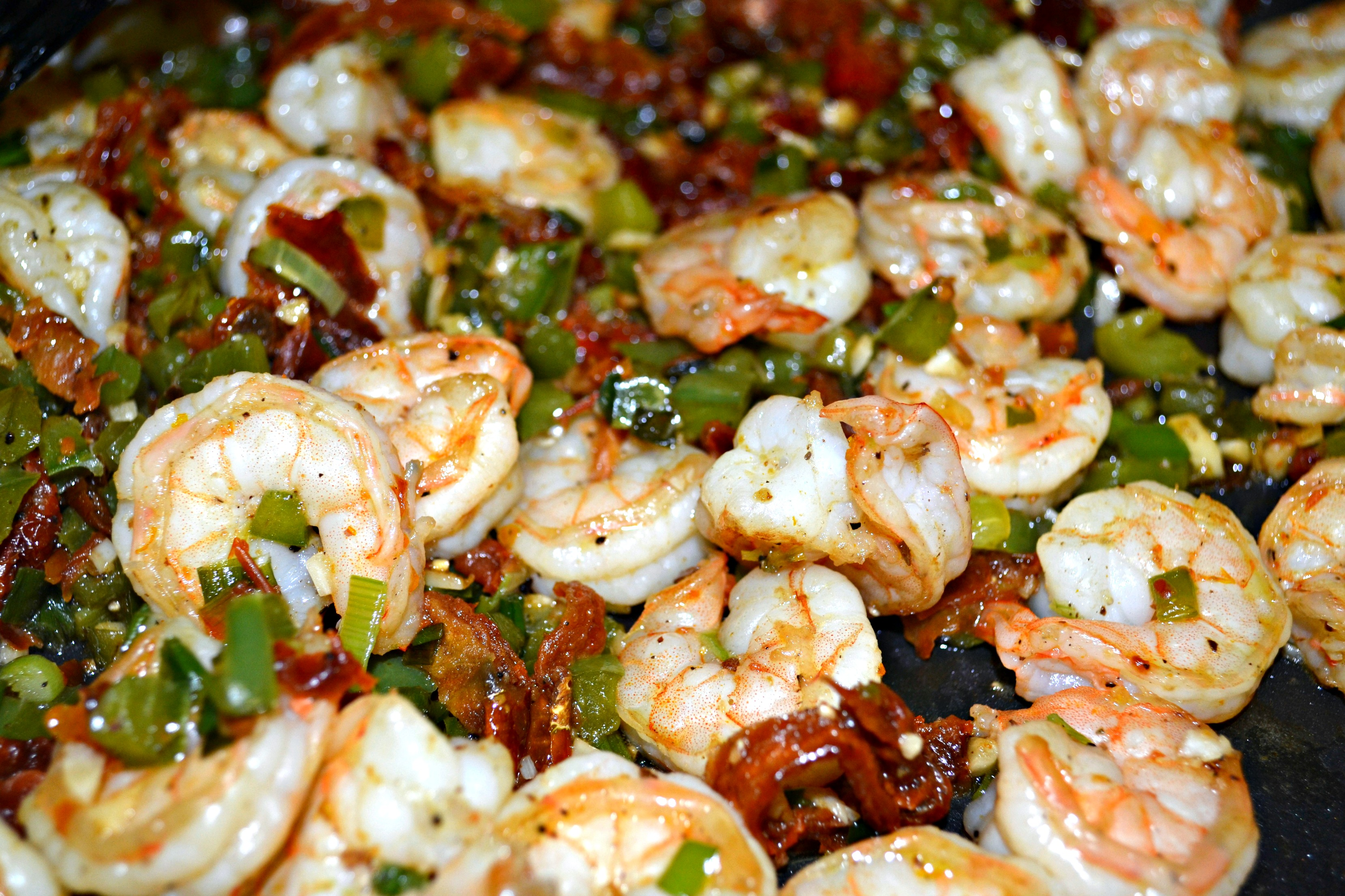 Opaque color shrimp once shrimp are cooked - Once Finished Plate Atop Your Bed Of Spaghetti Squash And Enjoy