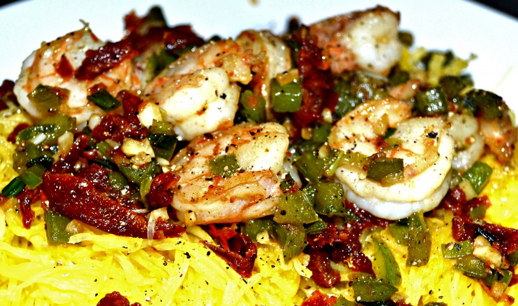 ... -Dried Tomatoes, Green Peppers and Spaghetti Squash | A Hint of Wine