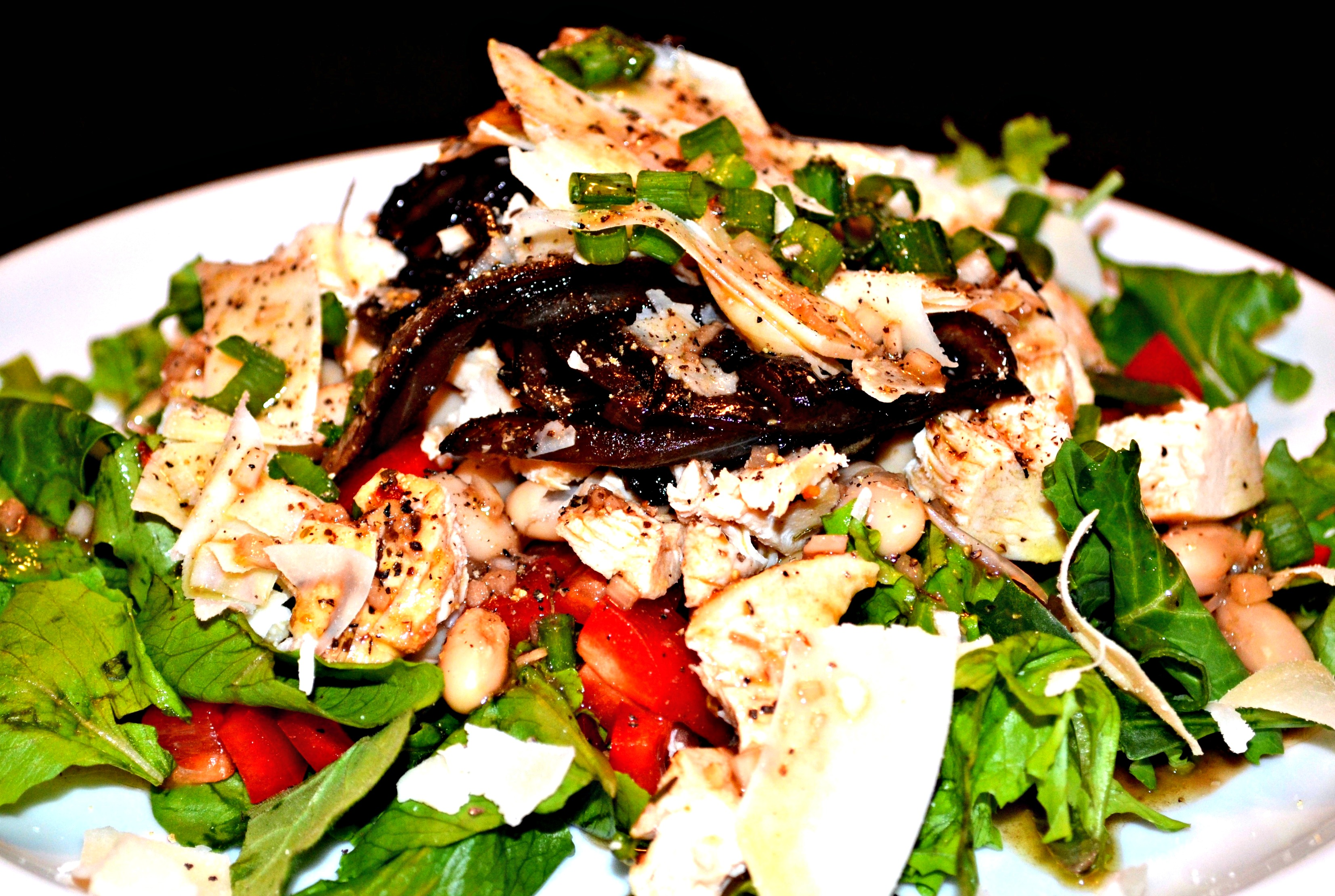 Grilled Chicken Salad with Caramelized Onions, White Beans ...