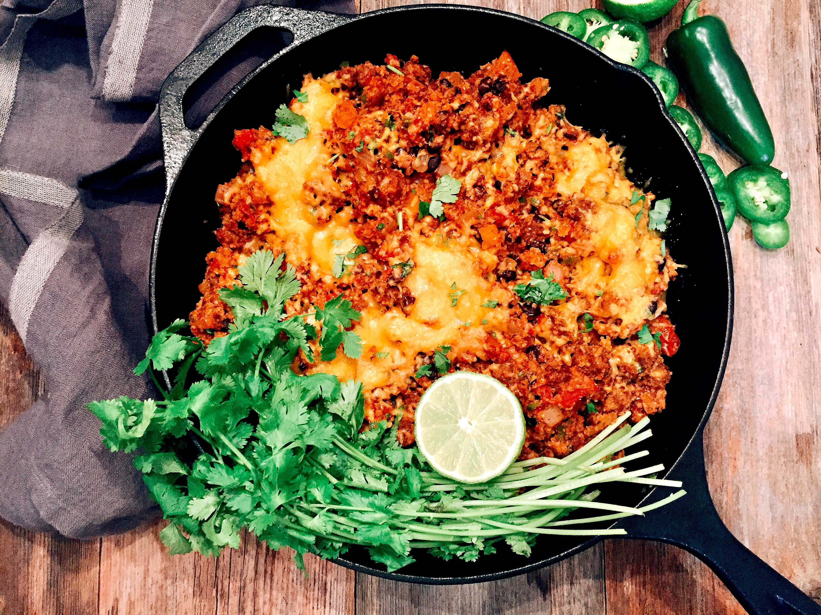 "Mexican-Style Cauliflower ""Rice"" with Chorizo"