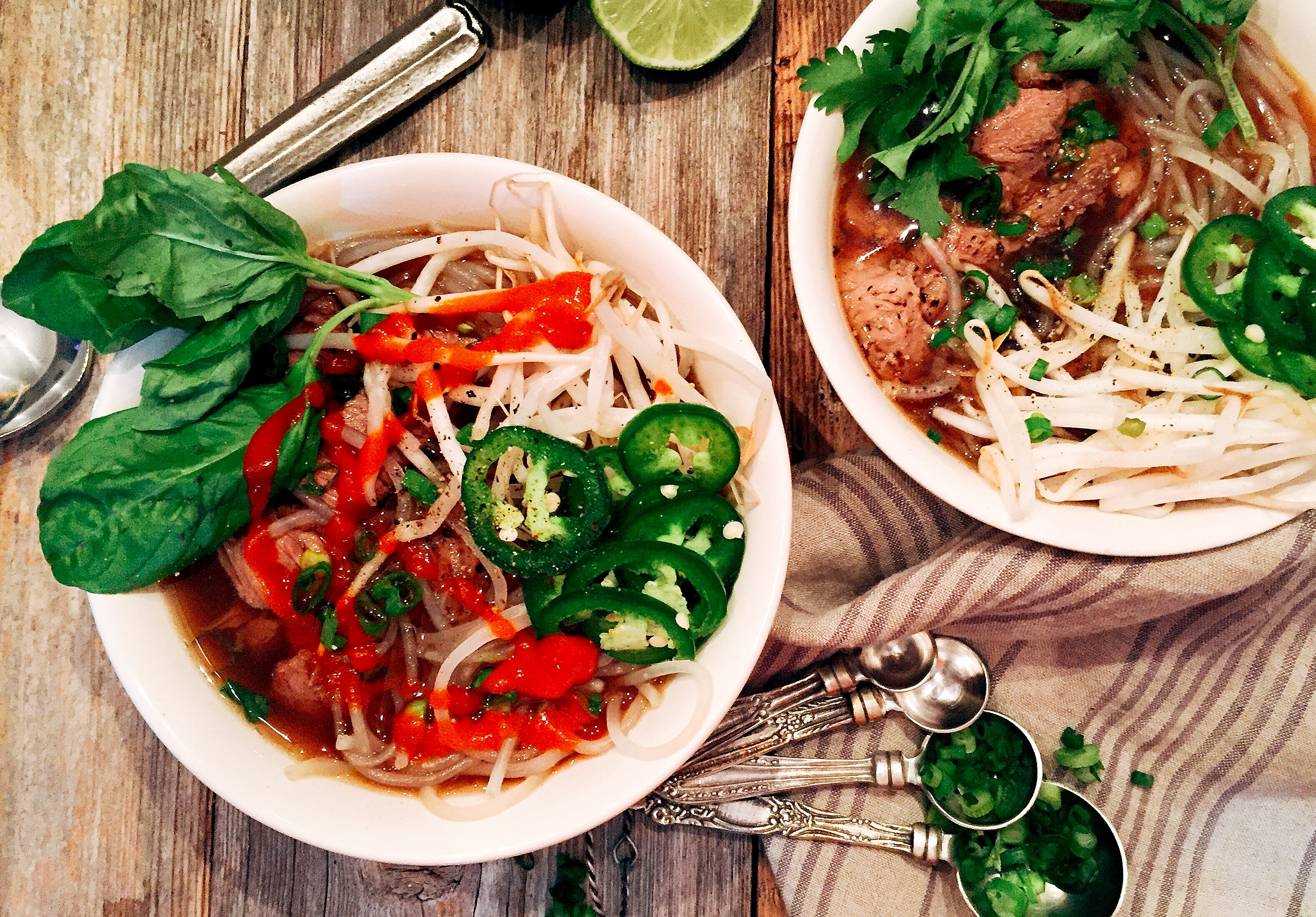 Spicy Sriracha Vietnamese Pho Soup [30 minute recipe!] - A Hint of Wine