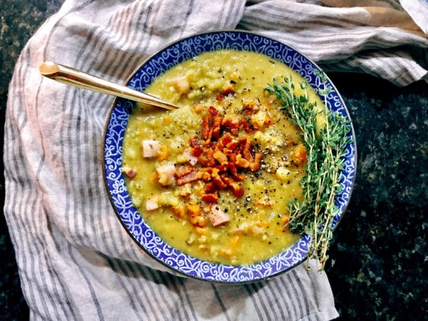 Split Pea Soup with Smoked Bacon and Thyme